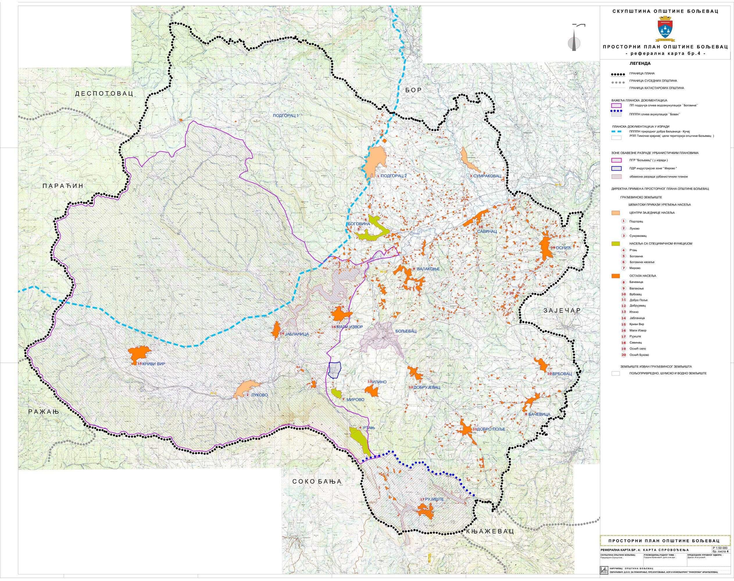 boljevac mapa Планска документа   Бољевац boljevac mapa